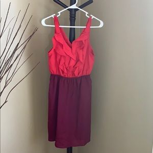 Dresses & Skirts - NWOT red and wine ruffled dress